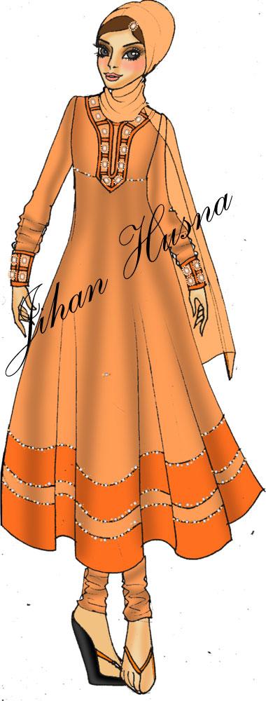 Desain Busana Pesta Muslimah Jihanhusna Spesialis